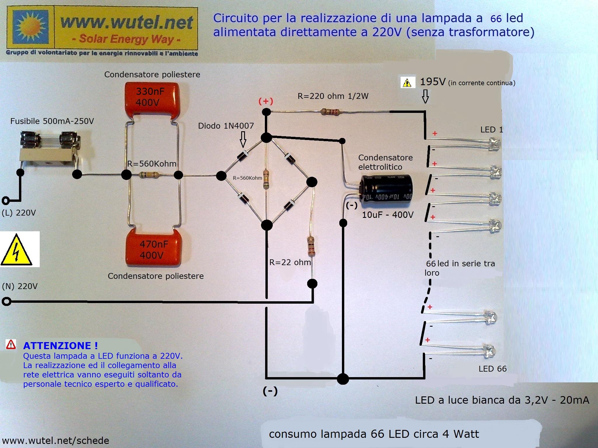 Schema Elettrico Per Luci Led : Wutel ecoledlamp