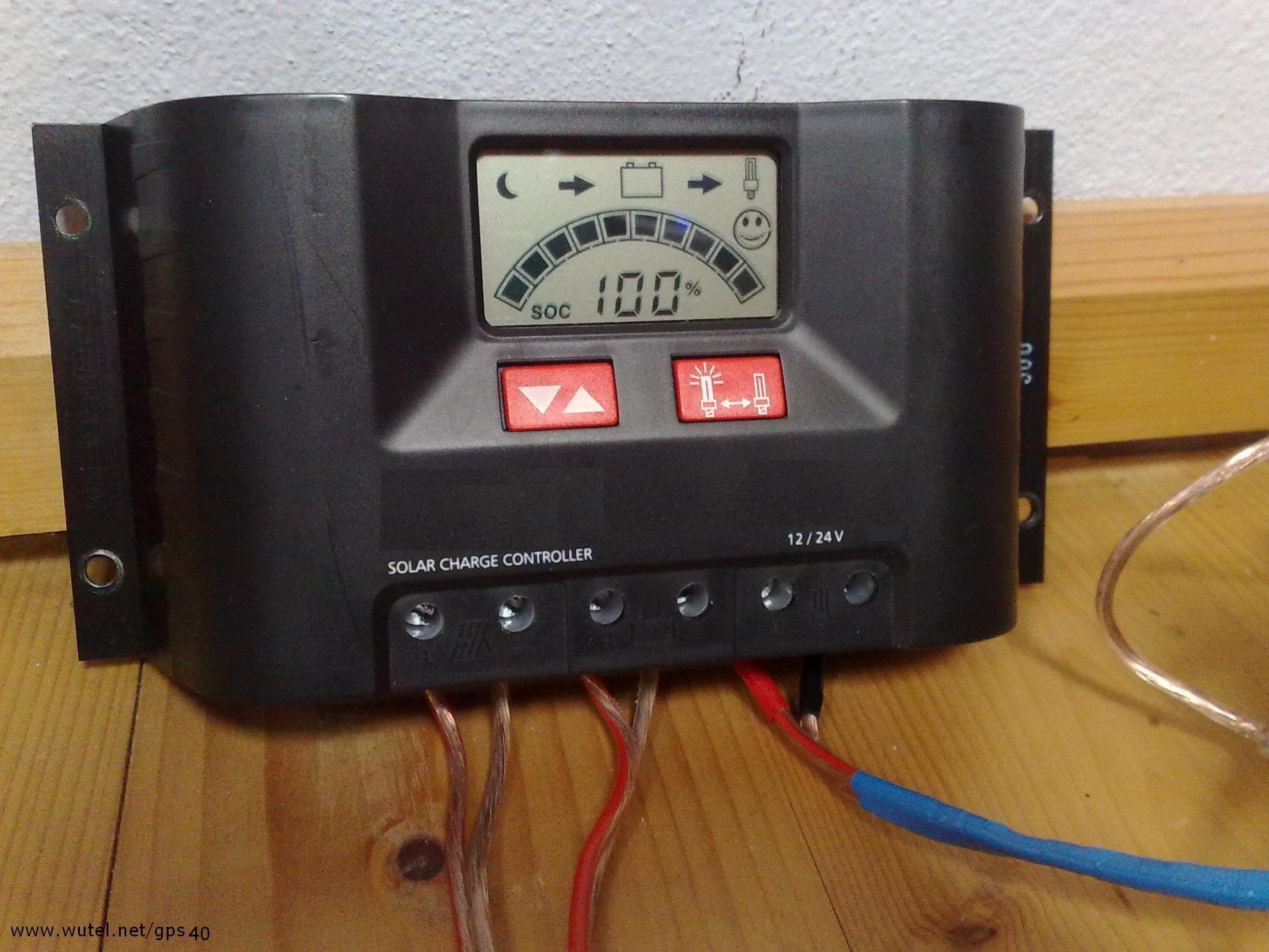 Schema Elettrico Regolatore Di Carica Per Pannelli Solari : Wutel g p s w