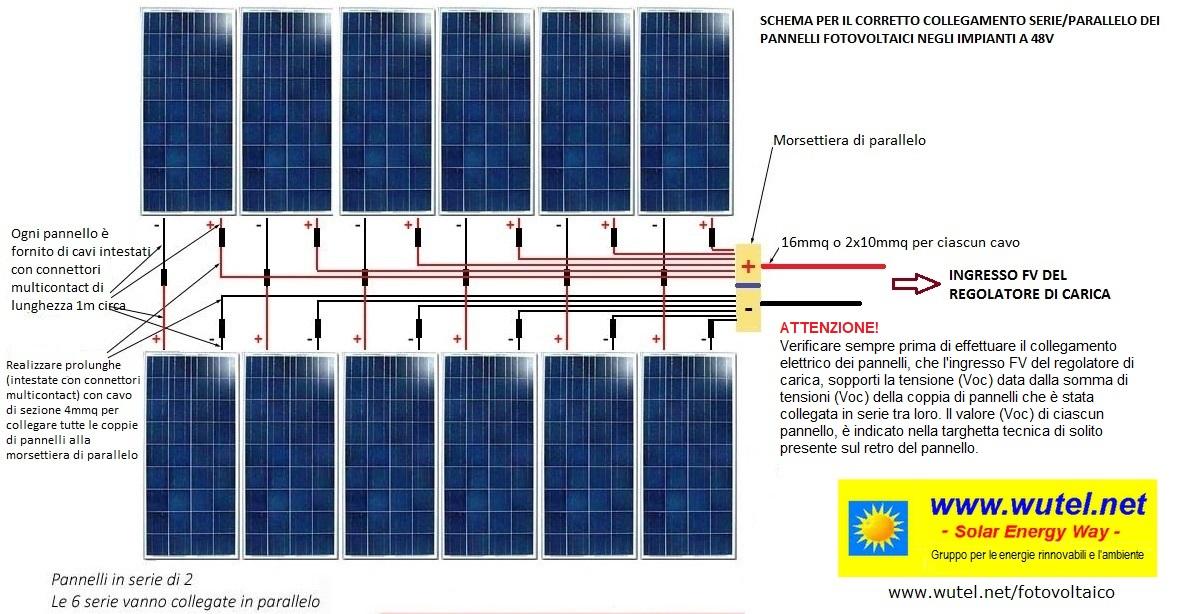 Schema Cablaggio Pannelli Fotovoltaici : Wutel schemi elettrici per impianti fv a volt