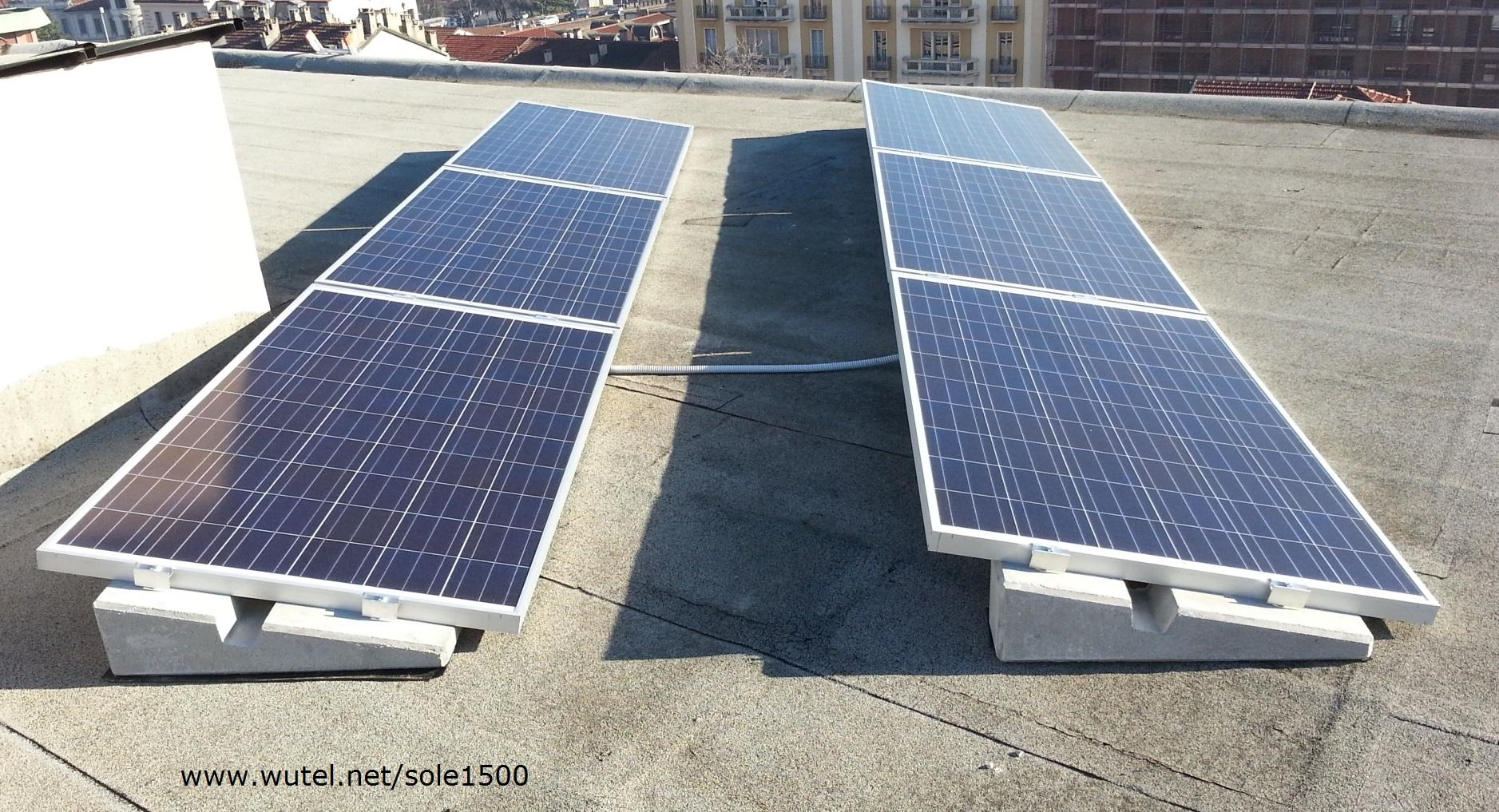 Schema Cablaggio Pannelli Fotovoltaici : Wutel sole