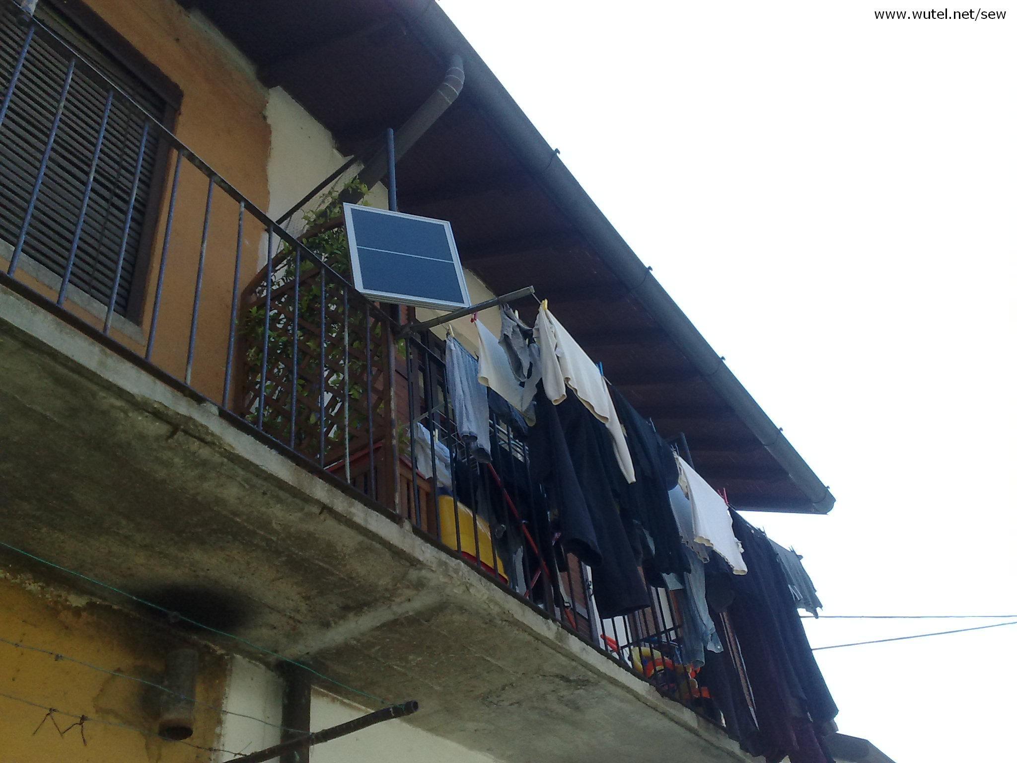 Pannello Solare Per Balcone : Wutel sole