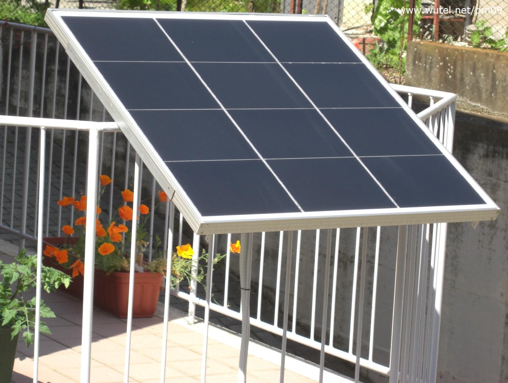 Pannello Solare Per Gazebo : Wutel sole
